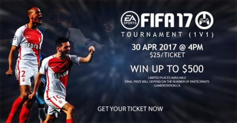 Gamer Station: FIFA17 (1v1) TOURNAMENT #6